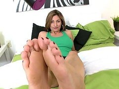 An Amazing Footjob From A Very Hot Blonde