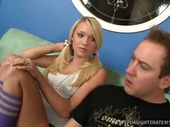 Egad! Bad Step-Dad! Blond Teagan Gets Fucked!