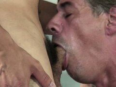 Two horny guys having some fun and sucking each other's big cocks