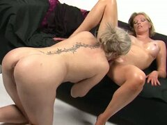Holly wellin fisting mandy's shaved and wet pussy