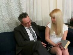 The tricky old teacher wants to get his hands on Candy so bad he's prepared to do just about anything to do it.  It doesn't take much in the end, simply getting his cock out does the job nice and easy!