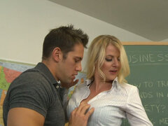 Hot teacher Anita Blue seduces her student's father