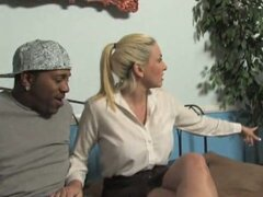 Cala craves fucked hard by a big black dick infront of her son