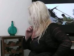 Bbw blonde sucks and fucks boss' cock