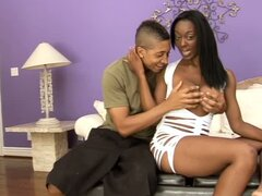 Ebony MILF Erika Vution Fucks a Teen Cock with Her Beefy Lipped Pussy