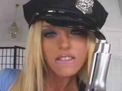 Stop Or The Police Woman Will Shoot