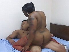 Fat ebony drilled by a horny guy