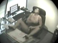 Office Masturbation With A Horny Secretary