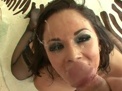 Sizzling Kristina Rose gets her face blasted with cum