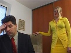 Blonde German Secretary Fucked By Boss