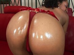 Hot Ebony Donna waxed and fucked hard