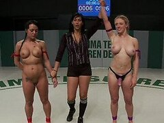Stunning Lesbian Wrestlers End Up Having Sex With Vibrators