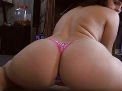 phat booty pawg  bouncing big white as