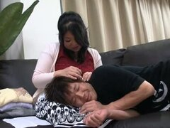 Chubby Mature Asian Mama Gets A Younger Piece Of Meat