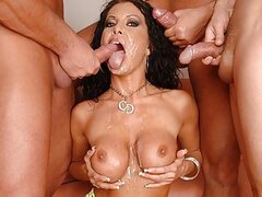 Cintia, this tight bodied slut returns, this time for a thorough throat fuck. So, don't waste your time, start downloading her scene right now!