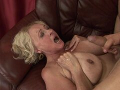 Mature whore loves getting drenched in hot cock juice