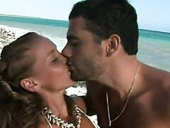 Kathy Campbel Swallows Cum On A Paradise Beach/Kathy Campbel