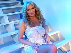 Julia Ann Goes Alone With Her Fingers In the Staircase