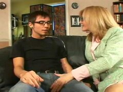 Nina Hartley with younger boy