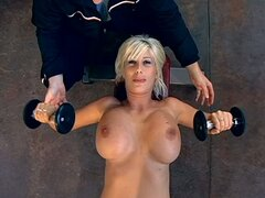 Puma Swede the slutty MILF gets pounded in a gym