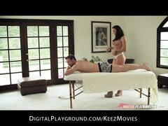 Chanel Preston gives her best friend's man a sensual massage