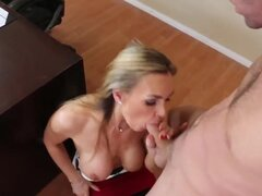 Nice guy James Deen but a bad student is left after classes with his gorgeous big tits teacher Tanya Tate and is going to work hard to become a good one.