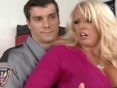 Brazzers - Big-tit blonde MILF is frisked & fucked by a cop