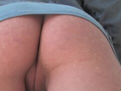 Girls Out West - Amateur pussy toyed outside