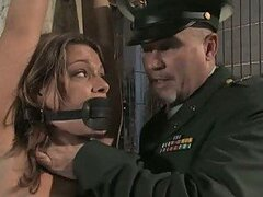 Army Officer Takes Bitch Hostage & Forces Her To Fuck
