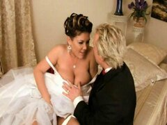 Sexy bride Claire Dames cant get married without boning Ryan Madisons cock one more time