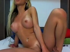 European blonde babe has fun in her room. Sweet video.