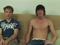 Gay clip of Grasping Daniel's prick in one hand, Jase arched over and