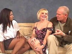 Freaky Old Couple Fuck Teen Babysitter.