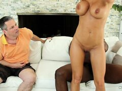 Here they go again - hubby watches how the black lover takes his wife