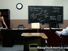 Naughty Dean Ava Addams finds evidence of Greg fucking his teacher