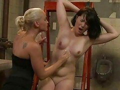 Mistress Kathia Nobili punishing slavegirl