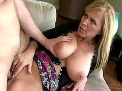 Hot Busty Blond MILF Banging Her Son's Best Friend