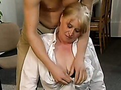 Blonde crazy old mom likes huge cocks. Tasty video