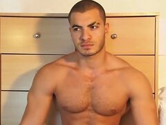 Handsome masculine arab sport guy get wanked by a guy