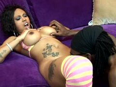 Busty Lacey Duvalle takes big black cock in her pussy