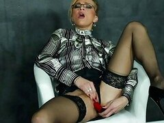 Masturbating Milf In Blouse And HighHeels