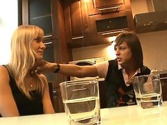 Hardcore Sex in the Kitchen with a Beautiful European Blonde Teen