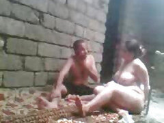 A nasty mature Russian whore is making one of her her son's friends ride her