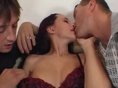 A Double Penetration Fuck Leaves a Gaping Hole in Clauda Adams