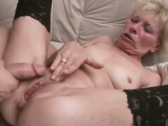 Drilled as she rubs clitty