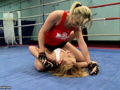 Everyone wants to watch sexy Tanya Tate and Nikita fighting hard