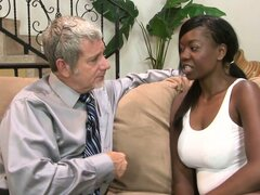 Magnificent ebony babe with huge tits has a passion for big cock