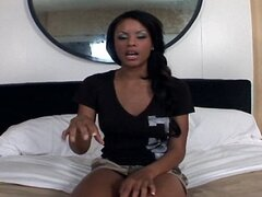 Ebony Teen takes it deep in the Ass in Anal Video
