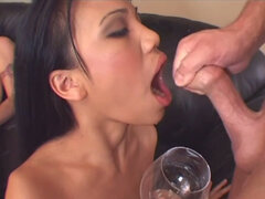 Slim brunette Lucy Thai wants to get fed with hot tasty cum
