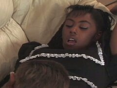 Cute teen black maid...